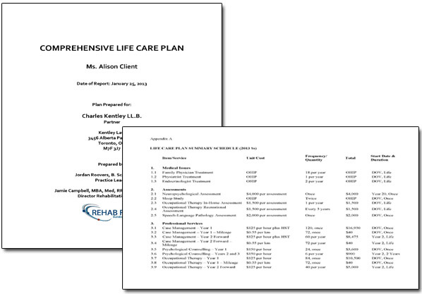 Sample life care plan